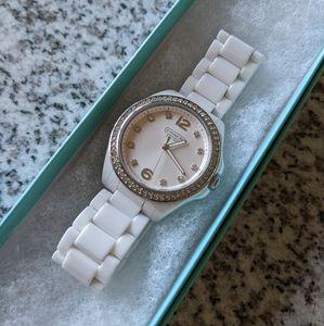COACH Tristan Ceramic & Diamond Watch